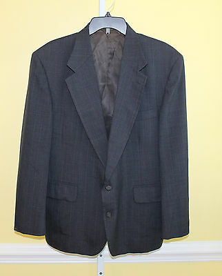 Andhurst Navy Blue 2 Button Blazer Jacket Size 44S Single Vent Pinstripe B