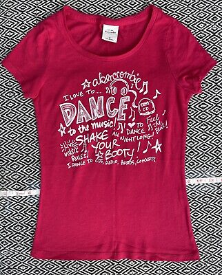 Abercrombie Kids Brand Girls Size M I LOVE TO DANCE Tee Size 10