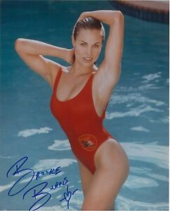 Brooke Burns Sexy Baywatch autograph 8x10 photo swim