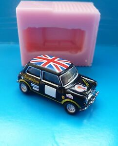3D 4cm MINI COOPER CAR SILICONE MOULD FOR CAKE TOPPERS CHOCOLATE CLAY ETC