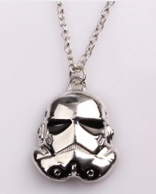 """Gift Bag + Star Wars Storm Trooper Silver Tone Pendant with 20"""" Necklace Chain"""