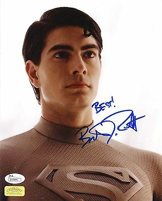 BRANDON ROUTH in POD SUIT SIGNED 8x10 PHOTO #2 JSA COA  SUPERMAN RETURNS