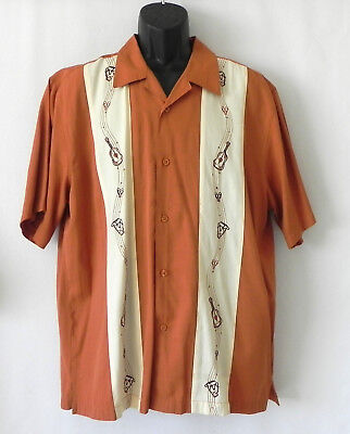The Havanera Co Short Sleeve Shirt Music Theme Relax Fit Size L