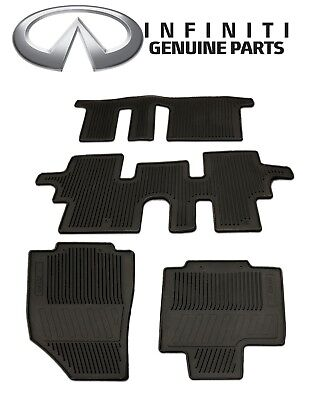 All Weather Floor Mats 3 Rows 999E1 R5000 for Infiniti QX60 2014 2018 Genuine