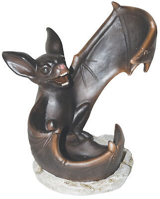 Halloween Painted Wine Bottles (Winged Bat Statue Wine Bottle Alcohol Holder Stand Halloween Home Kitchen)