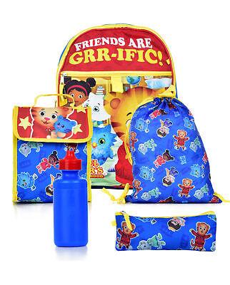 NEW Daniel Tiger's Neighborhood 5 Piece Backpack School Set TX30680