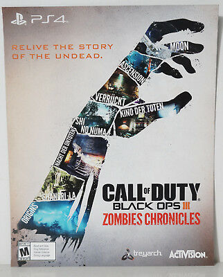 Call of Duty Black Ops III 3 Zombies Chronicles Add On Serenity (PS4, 2017) - NEW