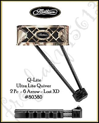 Mathews HD 6 Arrow Lost Camo XD Archery Quiver Dampener Spider Clip