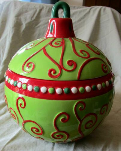 "Harbor East Christmas Ornament Cookie Jar ~ 27"" Circumference X 12"" High"