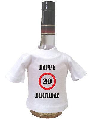 Happy Birthday Geburtstag Mini T-Shirt für Flasche Geschenk Party Fun Spass Wein