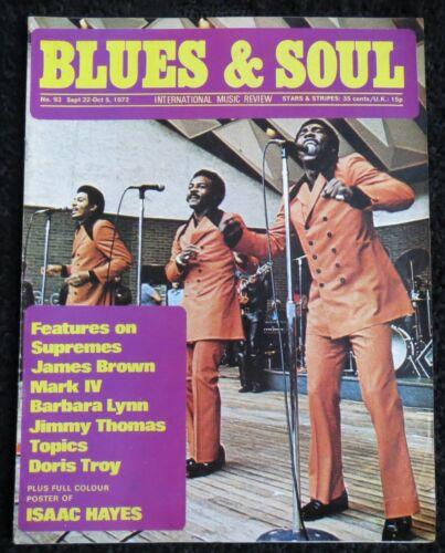 BLUES & SOUL MAGAZINE No.93, Oct 1972 - Barbara Lynn, Doris Troy, James Brown ..