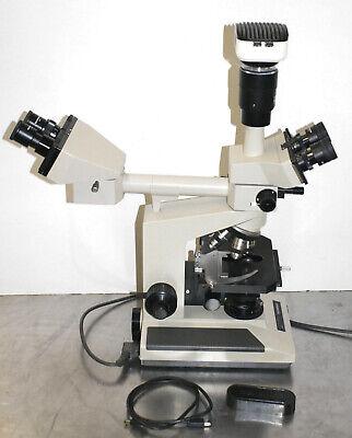 Olympus Bh-2 Dual Head Microscope Q-color 3 Digital Camera 5 Objectives 4-100x