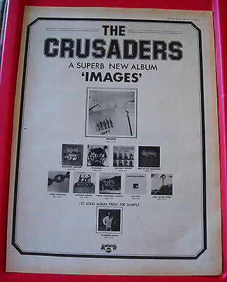 The Crusaders Images Vintage ORIGINAL 1978 Press/Magazine ADVERT Poster-Size