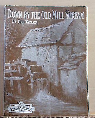 Down By The Old Mill Stream - 1938 sheet music - by Tell Taylor, Old Mill cover (Down By The Old Mill Stream Sheet Music)
