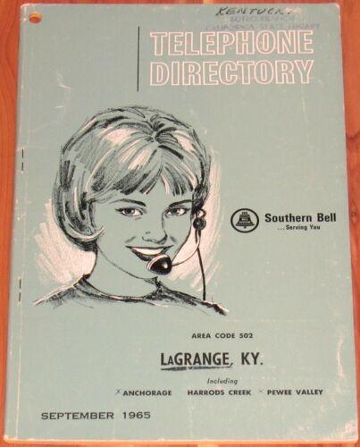 1965 KENTUCKY TELEPHONE DIRECTORY, LAGRANGE, AREA CODE 502