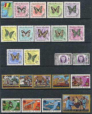 GUINEA COLLECTION MINT, USED, CTO