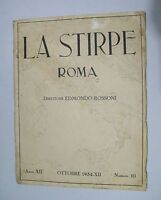 La Stirpe Rivista Nazionale Anno Xii N.10 - Ottobre 1934 -  - ebay.it