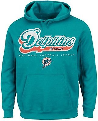 Miami Dolphins NFL Apparel Critical Victory Pullover Hoodie Big & Tall Sizes
