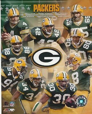 2003 GREEN BAY PACKERS 8X10 COLOR TEAM COLLAGE NFL LICENSED PHOTO FILE