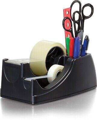 Heavy Duty Packing Tape Dispenser Packing Cutting Sealing Holder Desktop Black.