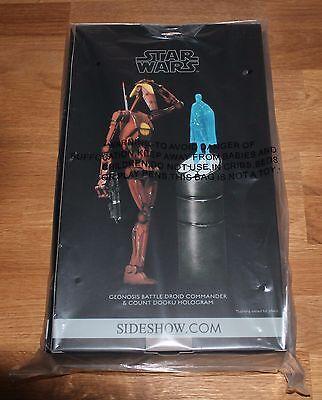 Sideshow Star Wars Geonosis Battle Droid Commander mit Hologramm