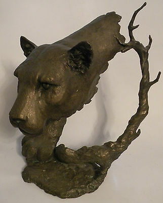 "MARK HOPKINS ""STALKING COUGAR"" Bronze Limited Edition # 431 of 450 Mountain Lion"