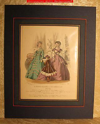 "MODE -""LE JOURNAL DES DAMES ....."" Blatt 793-Altkolorierter Stich ca.1864"