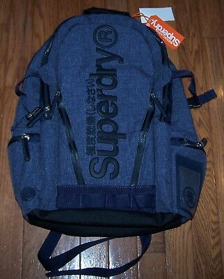 Superdry LEGEND TARP Backpack NAVY GRIT ~ NWT $75