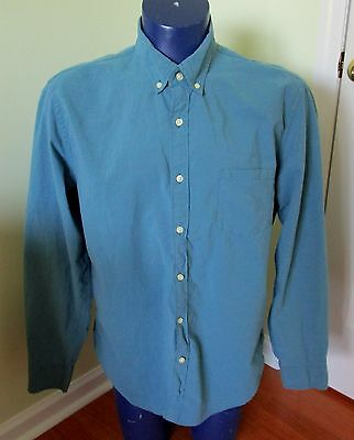 J. Crew Men's XL Sunwashed Oxford Tailored Cotton Horizontal Microstripe blue ()