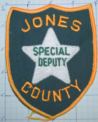 MISSISSIPPI, JONES COUNTY SHERIFF SPECIAL DEPUTY GREEN VINTAGE PATCH