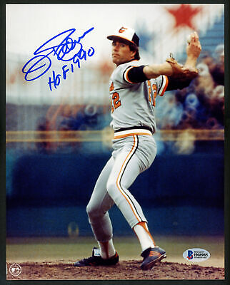 "JIM PALMER AUTOGRAPHED SIGNED 8X10 PHOTO ORIOLES ""HOF 1990"" BECKETT BAS 153142"