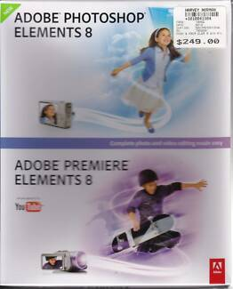 SOFTWARE: Adobe Photoshop and Premiere Elements 8 (NEW)
