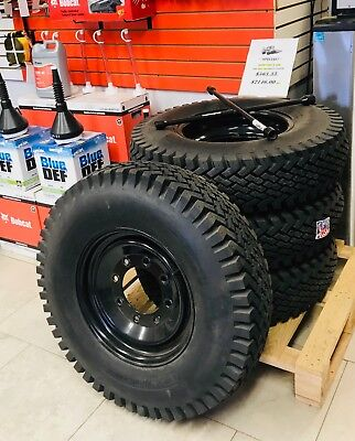 Skid Steer Tire Snow Plowing Tires And Wheels Set Of 4 Wolf Paws Narrow