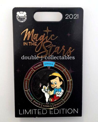 2021 Disney Magic in the Stars Pisces Pinocchio & Figaro LE Pin