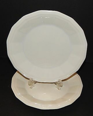 2 Homer Laughlin Classic White Colonial Dinner Salad Plates in Dover CW100