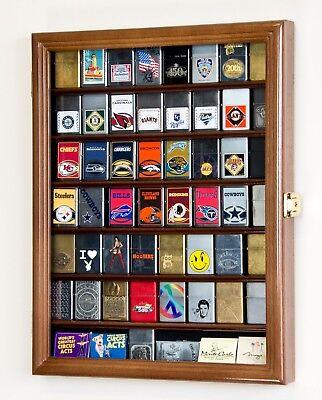 56 Zippo Lighter Display Case Cabinet Wall Rack - 98% UV - Lockable