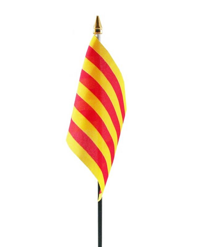 "CATALONIA Catalan SMALL HAND WAVING FLAG 6""X4"" flags SPAIN"