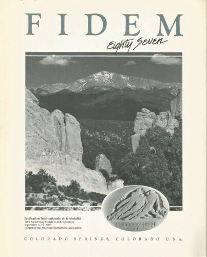 FIDEM: XXI Congress International Federation of Medallic Art, Catalog, 1987