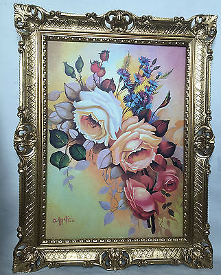 Flores Rosas Imagen 90X70 Marco Cuadro con Marco Fotos Rosa Cuadro Enmarcado
