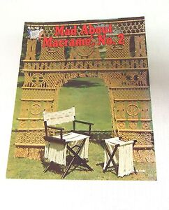 Vintage-Craft-Book-MAD-ABOUT-MACRAME-Chair-ROOM-DIVIDER-No-22
