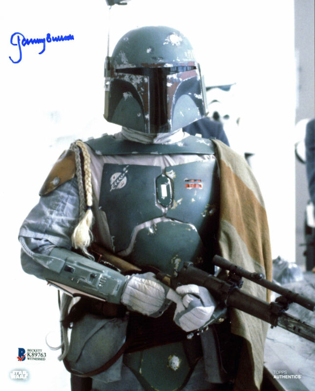 Jeremy Bulloch Star Wars Signed 8x10 Topps Photo Autographed Bas Witnessed 1