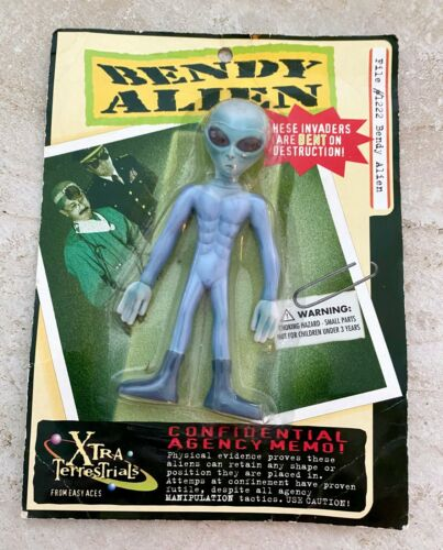 Easy Aces Bendy Alien Xtra Terrestrials, UFO Roswell, 90