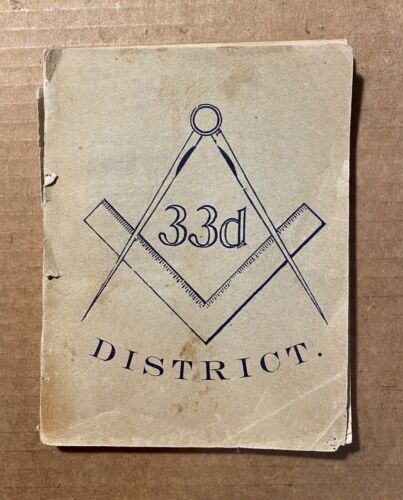 Directory of the Masonic Fraternity 33rd District 1901