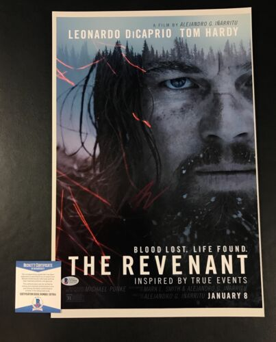 LEONARDO DICAPRIO SIGNED AUTO THE REVENANT 12X18 PHOTOGRAPH BAS BECKETT COA