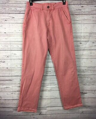 Vintage 1946 Washed Stoned & Beaten Men's Flat Front Chino Pants Size 32 x 34.5 Vintage Washed Chino