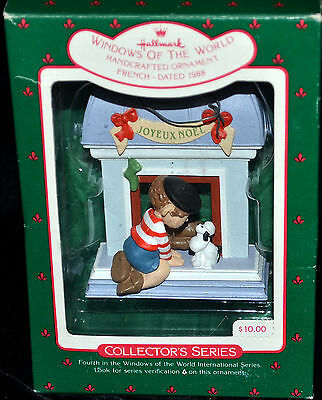Windows of the World - French Dated 1988 Hallmark Collector's Christmas Ornament