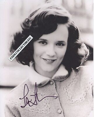 """LEA THOMPSON of """"BACK TO THE FUTURE"""" IN PERSON SIGNED 8X10 COLOR PHOTO (PROOF)"""