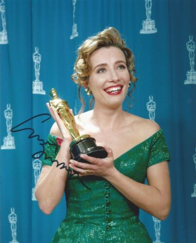 Emma Thompson Signed Academy Award 10x8 Photo AFTAL