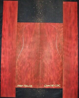 Guitar Luthier Tonewood CHACTE COC REDHEART Acoustic backs sides SET