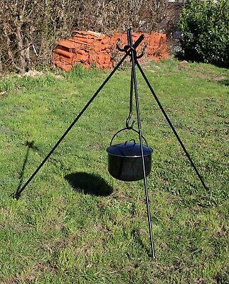 Großer geschmiedeter Dreibein Dreifuß für Schwenkgrill Kochtopf 1,7m